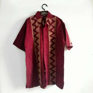 Karunia Batik Shirt Red