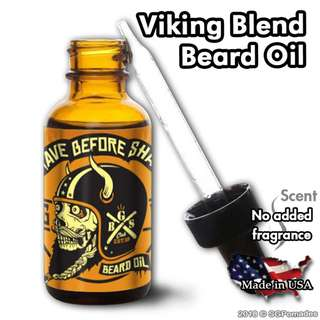 (Free mail) Vikings Blend Beard Oil by Grave Before Shave
