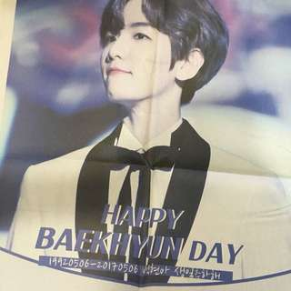 EXO baekhyun 2017 birthday newspaper