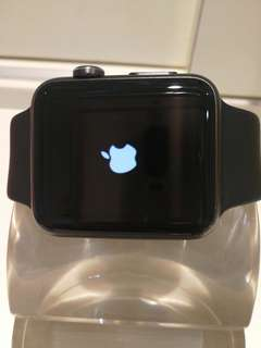 Apple watch Ser.1 42mm Black 連充電線 SH009384