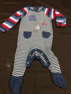 3-6 Months Mothercare Sleepsuit