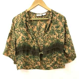 Dries Van Noten green silk cardigan size 36