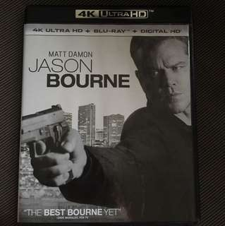 JASON BOURNE 4K ULTRAHD BLURAY