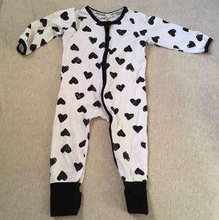 🚚 二手8成新 兒童男童女童嬰幼兒雙向拉鍊連身衣