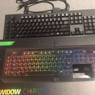 Razer gaming keyboard  And Gaming Mouse Mat