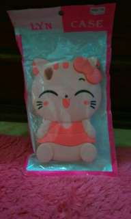 Case boneka kucing karakter /soft case/silicon 3D