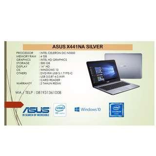 Kredit Laptop Asus X441NA Silver Dualcore Gratis 1x Cicilan