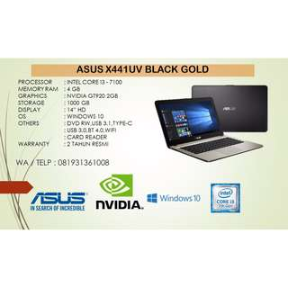 Kredit Laptop Asus X441UV i3-7100 Black Gold