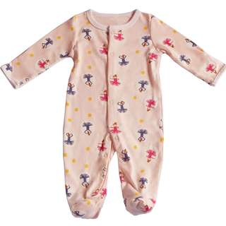 Sweet Ballerina Prints Pajamas/Sleeping Suit/Body Suit for Baby Girls from 0-24 month