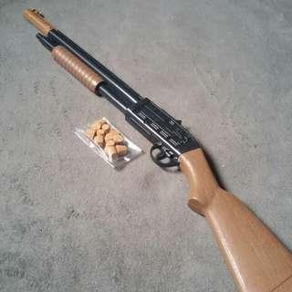 Plastic Cock Pump Shot Gun Toy