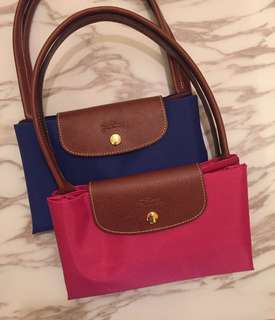 桃紅大Longchamp handbag