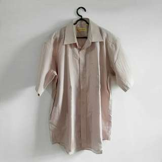 FUGUIYU COLLECTION Soft Pink Basic Shirt