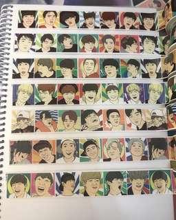 BTS 防彈少年團 飯繪表情包MT貼紙