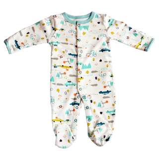 Racing Cars Pajamas/Sleeping Suit/Body Suit for Baby Boys from 0-24 month