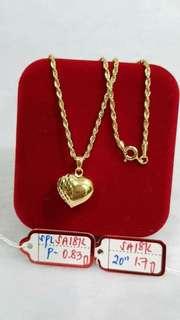 Necklace in 18k Saudi Gold