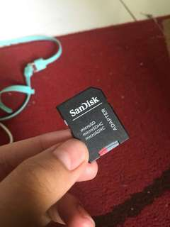Sandisk 128 GB Micro SD + Adapter