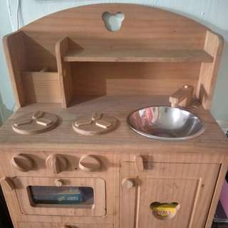 Japan handmade wooden play kitchen