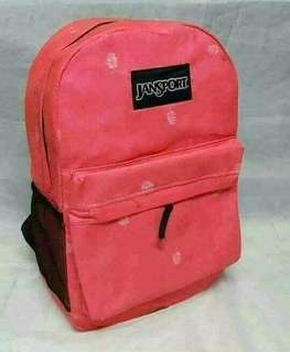 "Jansport back bag ▪Leather ang loob ▪Size: 18"" ▪Good Quality"