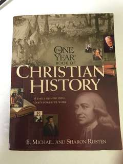 Choose 5 items for $15: One Year Book it Christian History