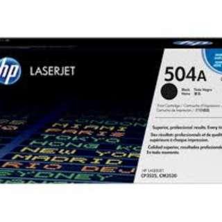 Original HP Toner Cartridge P/N- HP 504A - CE250A CE252A CE253A for Printer CP3525 CM3530 Printer