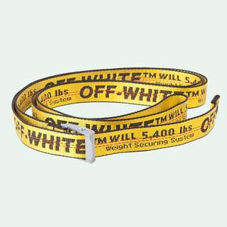 OFF WHITE YELLOW MINI INDUSTRIAL BELT