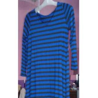 J08 Blue Striped Dress