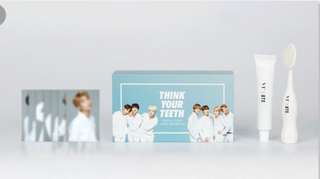 VT X BTS Think Your Teeth Jumbo Toothbrush Kit (White)