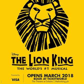 The Lion King Musical Ticket | April 1 | Right Balcony