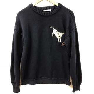 J.W. Anderson navy knitted sweater size M