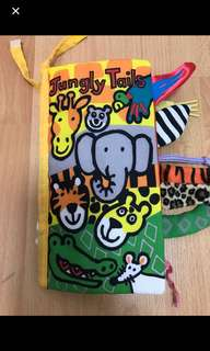 Brand new Jungly Tails Soft Book cloth book