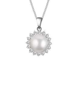 BNIB Toscow Australia White Pearl Crystal Necklace