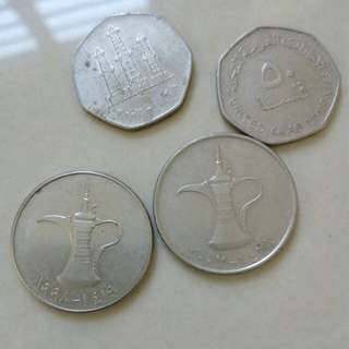 Old Coins and new Arab and Euro