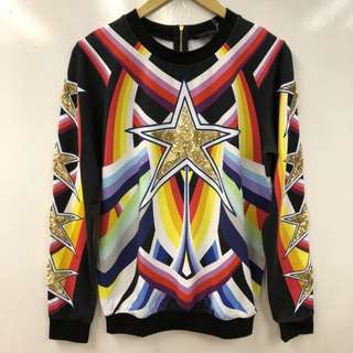 Manish Arora gold stars sweater size M