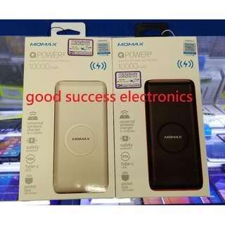 Momax QPower 2 無線流動電源 10000mAh IP81  支援Qi 產品包括iPhone X、 8、 8 Plus、Samsung S8、Note 8、S7 Edge