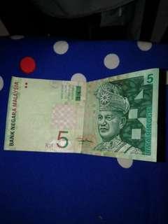Malaysia old 5 ringgit