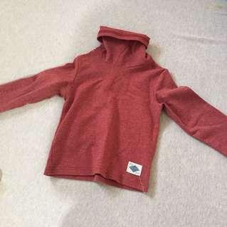 🚚 二手男童女童嬰幼高領半領打底上衣長袖上衣 約1歲半內