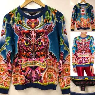 Manish Arora owl crystal sweater size M