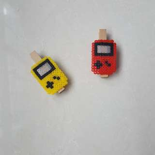 Retro mini Gameboy Wooden Peg