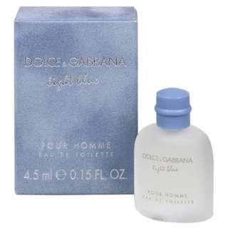 Dolce & Gabbana Light Blue EDT Miniature For Men 4.5 mL