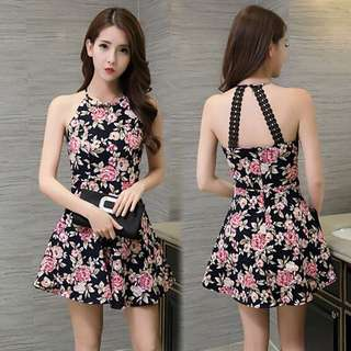 Floral Sexy Clubbing Dress