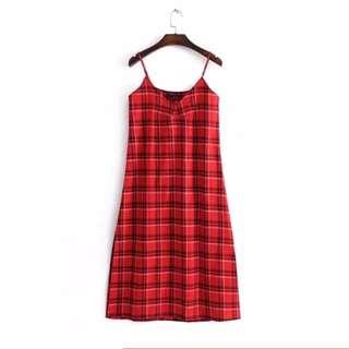 🔥Thin plaid loose Dress