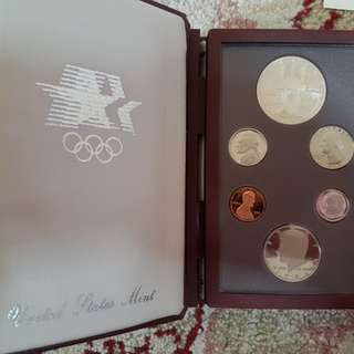 1984 Olympic prestige set  American coin.