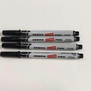 4 Zebra markers