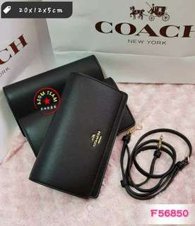 Authentic Coach foldover sling bag