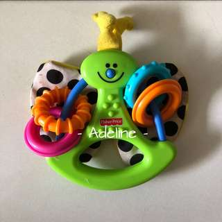 Fisher Price Rattle Teether Butterfly