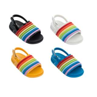 Mini Melissa Beach Slide Sandal Rainbow
