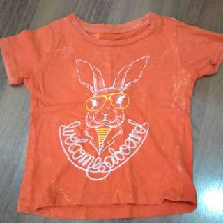 Jbaby t shirt, orange color