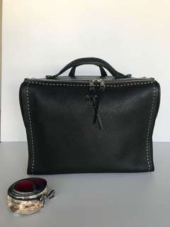Fendi sling leather bag