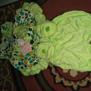 Take all!!  Baju bayi satu stel baju playsuit jumpsuit perempuan baju baru