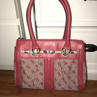 Guess Bag Leather and Canvas